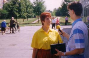1991: Erste Anfänge mit moderner Technik - ein Jungjournalist im Interview