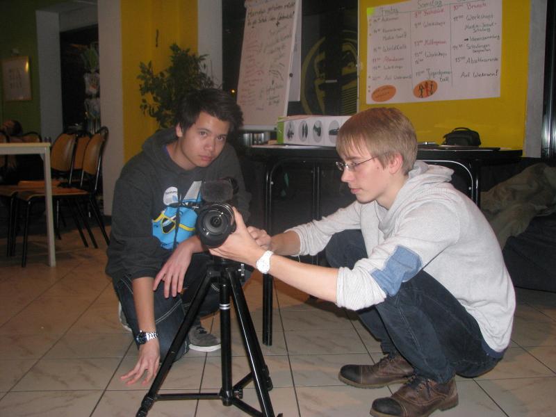Vorbereitungen fürs erste Video