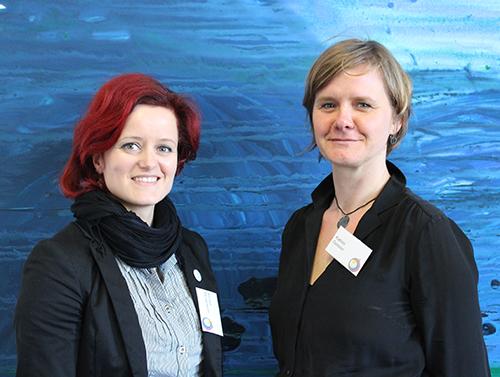 Kirsten Mengewein, Koordinatorin des FSJ Kultur bei der Landesvereinigung kulturelle Kinder- und Jugendbildung Sachsen-Anhalt (lkj) und Katrin Geißler, Fachbereichsleiterin für den Freiwilligendienst des Landesjugendwerks der AWO